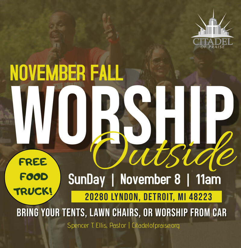 Outside Lawn & Drive-in Worship November